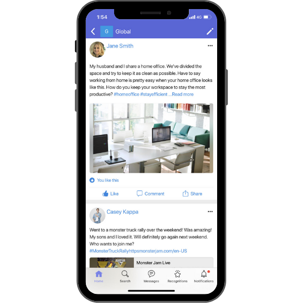 HubEngage Social Employee App