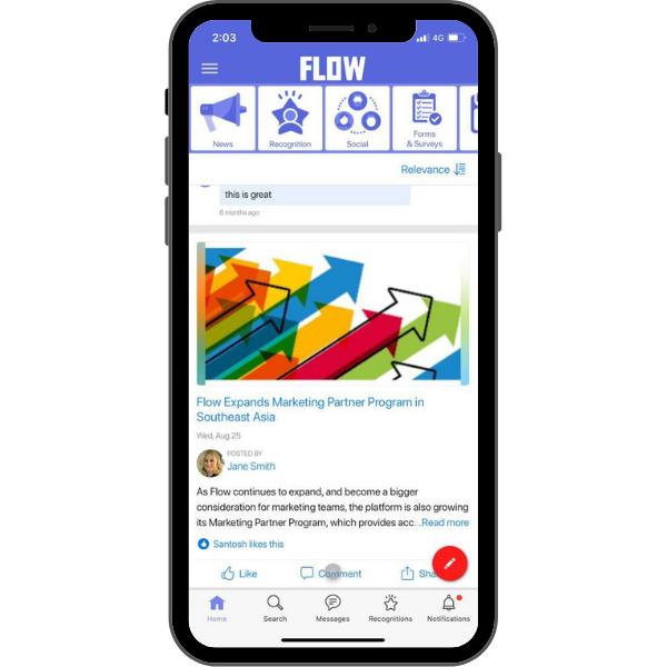 HubEngage Employee App Communications