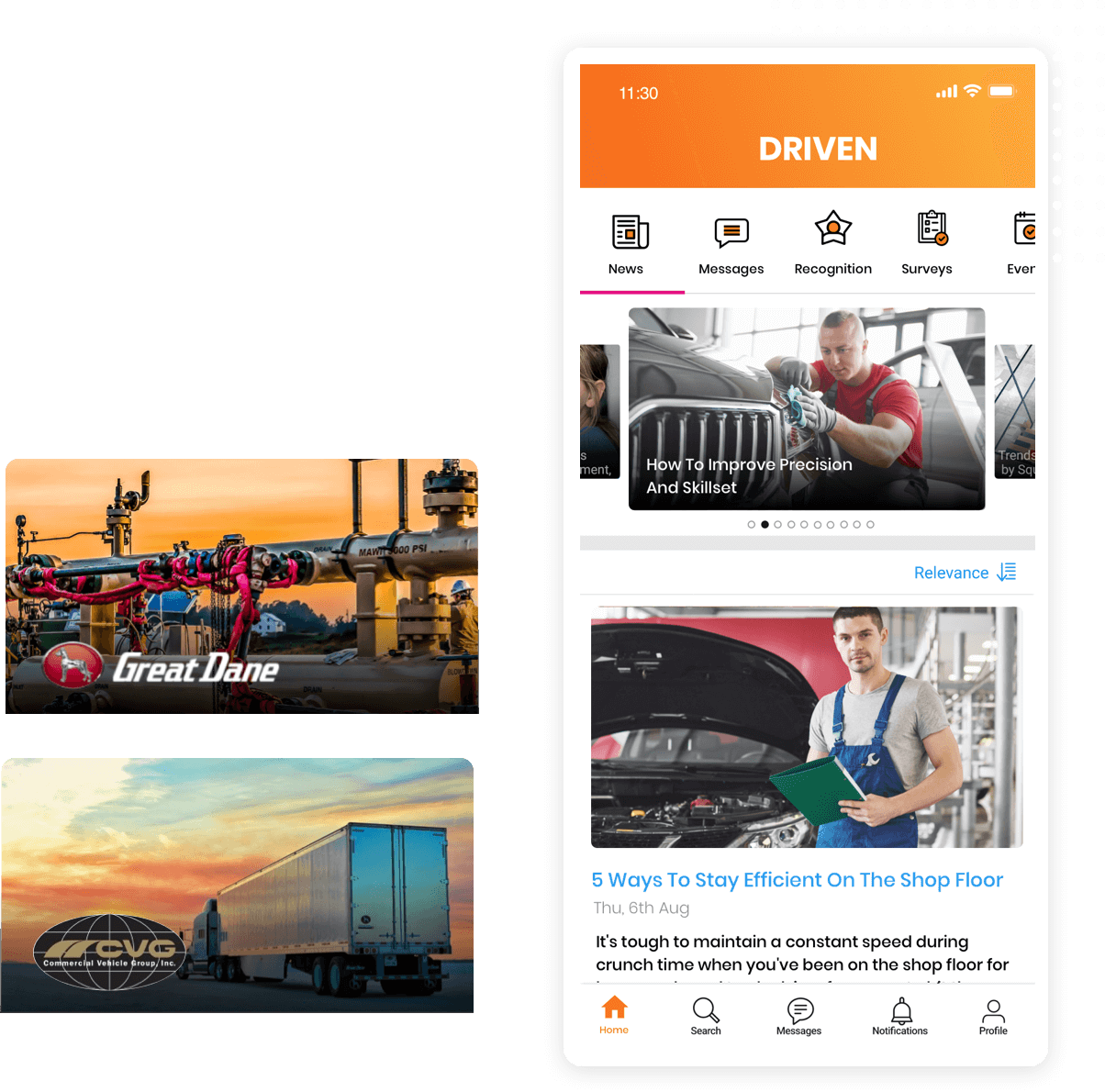 automotive employee communications platform