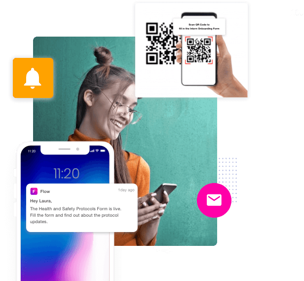 Push notify, email or scan