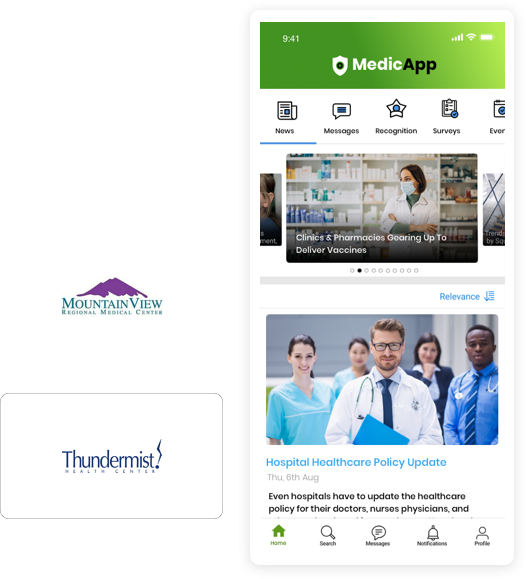 Communications Platform for the Healthcare Industry.