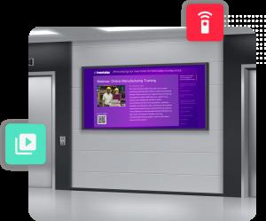 Digital displays for employee communications