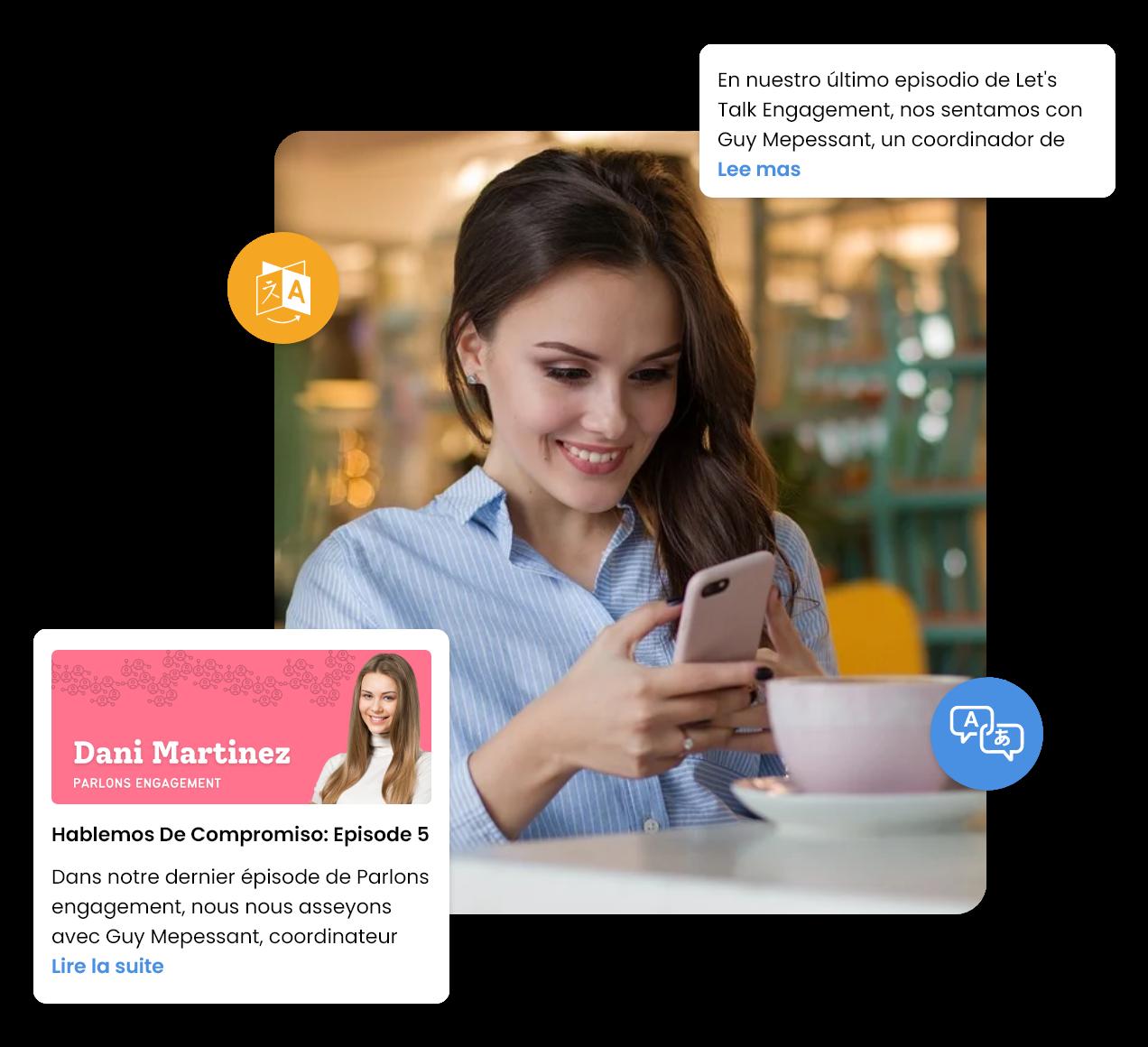 HubEngage multi-language feature