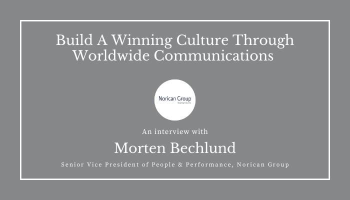Morten Bechlund - Norican Group - Testimonial for HubEngage